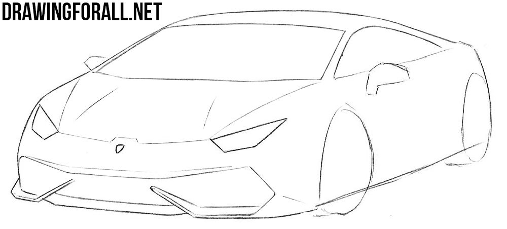 How To Draw A Sports Car Step By Step Sports Car Drawings Car