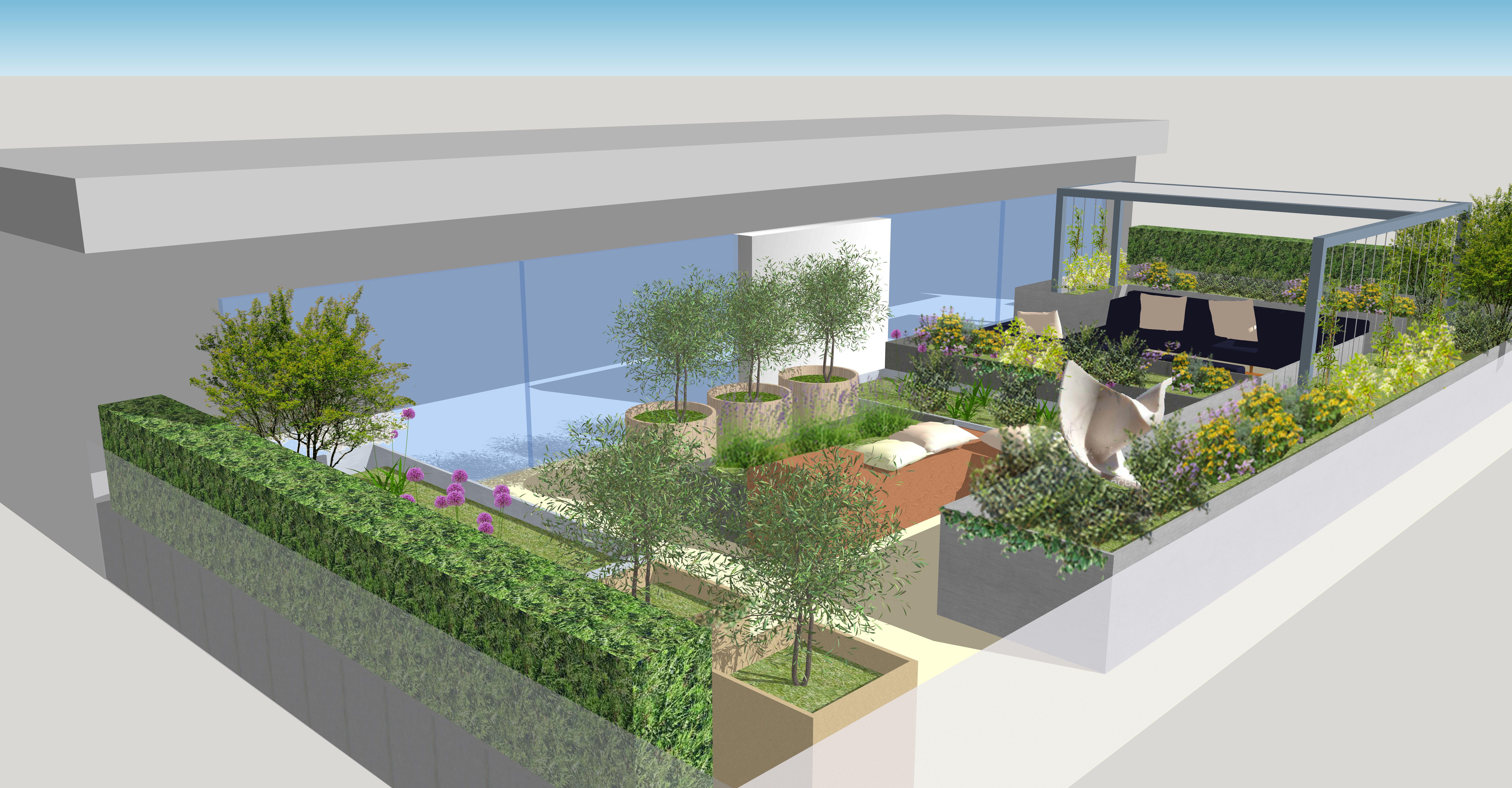 FULHAM REACH LONDON | Aralia Garden Design – Landscape & Garden Design