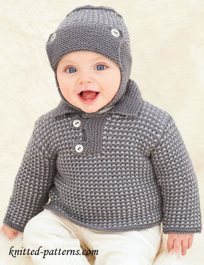 Baby Jumper And Helmet Knitting Pattern Free To Fit 0 6mos 6
