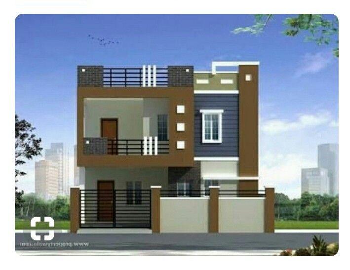 Duplex house plans elevation photos indian style rumah minimalis in front designs design also rh pinterest