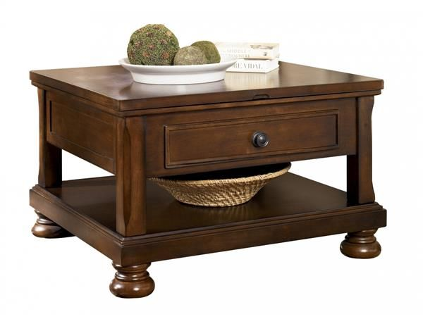 Ashley Furniture Porter Brown Lift Top Cocktail Table Coffee