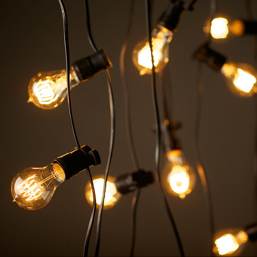 Edison String Lights Outdoor : Vintage Edison Party Lighting string lights 240V (20m with 20 bulbs- USD 399.00) The Money Street ...