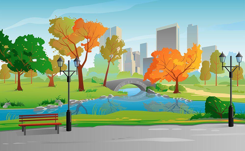Autumn Landscape City Park With Images