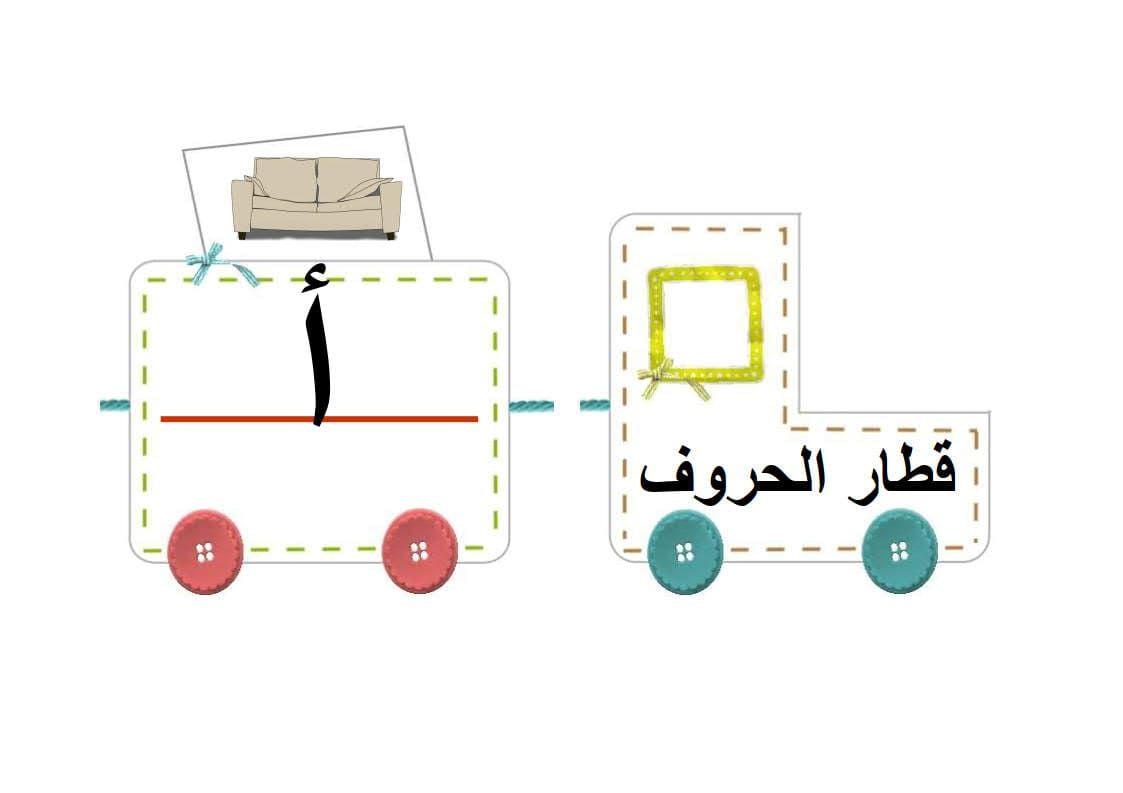 قطار الحروف العربية لتعليم الاطفال الحروف بطريقة متسلسلة Arabic Kids Wooden Toy Car Wooden Toys
