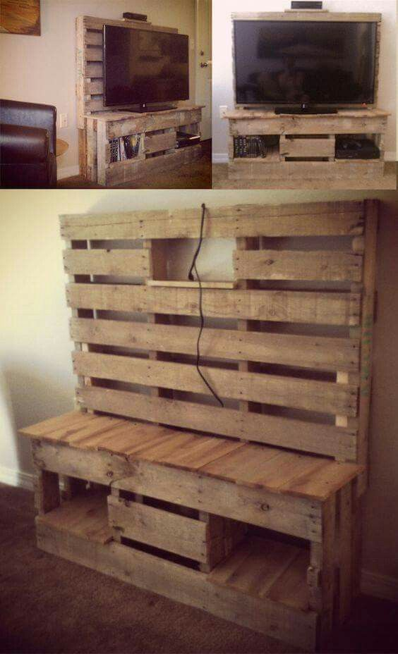 Incroyable Pallet TV Stand More