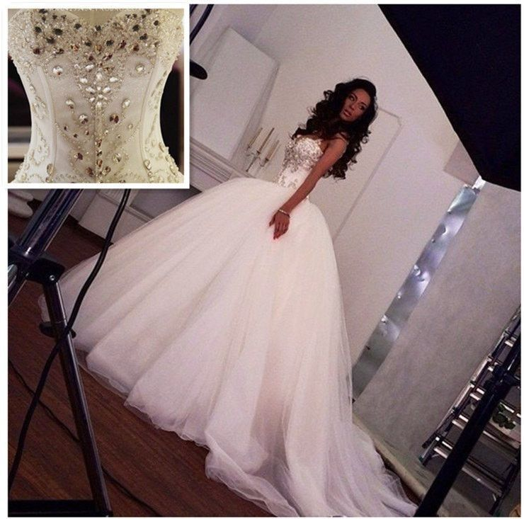 Crystal Wedding Dress Ball Gown At Bling Brides Bouquet Online