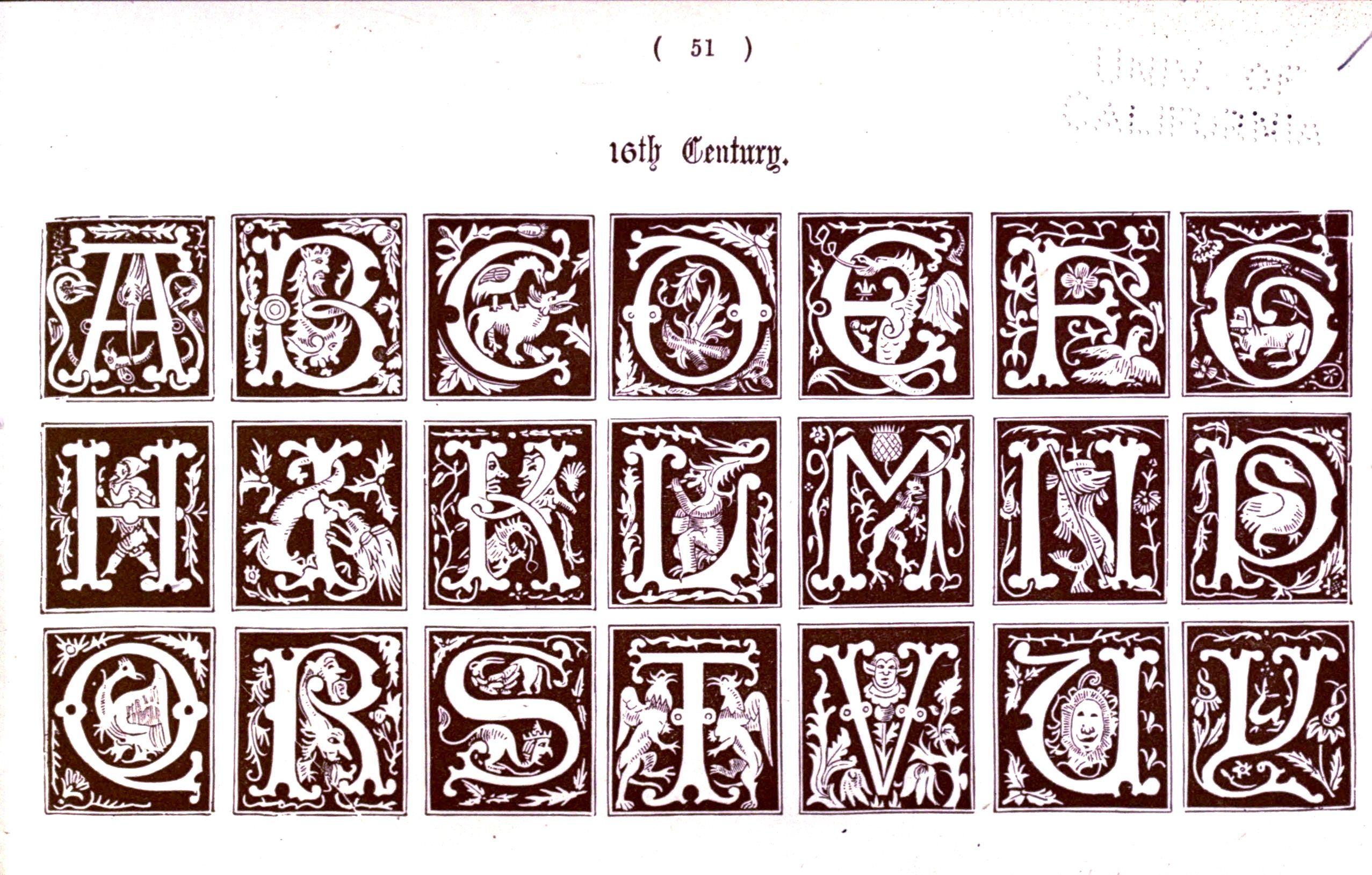 Illuminated Capital Letters Font