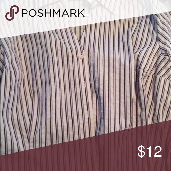Purple and white stripped button up-3x Great condition button up Tops Button Down Shirts