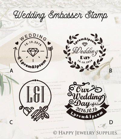 Design Your Own Wedding Embosser Stamp Por Hyjewelrysupplies Embossing Wax Seal