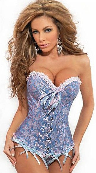 1c74826d22 Hot Plus Size Black Sleepwear y Women Lace Tops Steel Bustier Lingerie  Overbust Corset (S