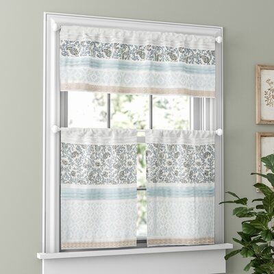 Ophelia Co Hailee Printed And Pieced Rod Pocket Kitchen Curtain Size 24 L X 30 W Kitchen Curtains Kitchen