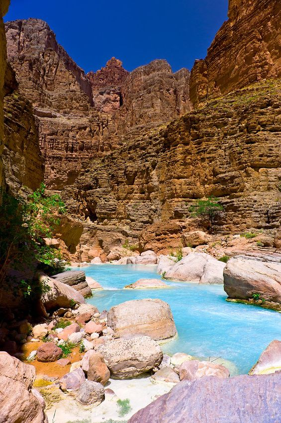 Havasu Creek on the Colorado River in Grand Canyon, Grand Canyon National Park, Arizona