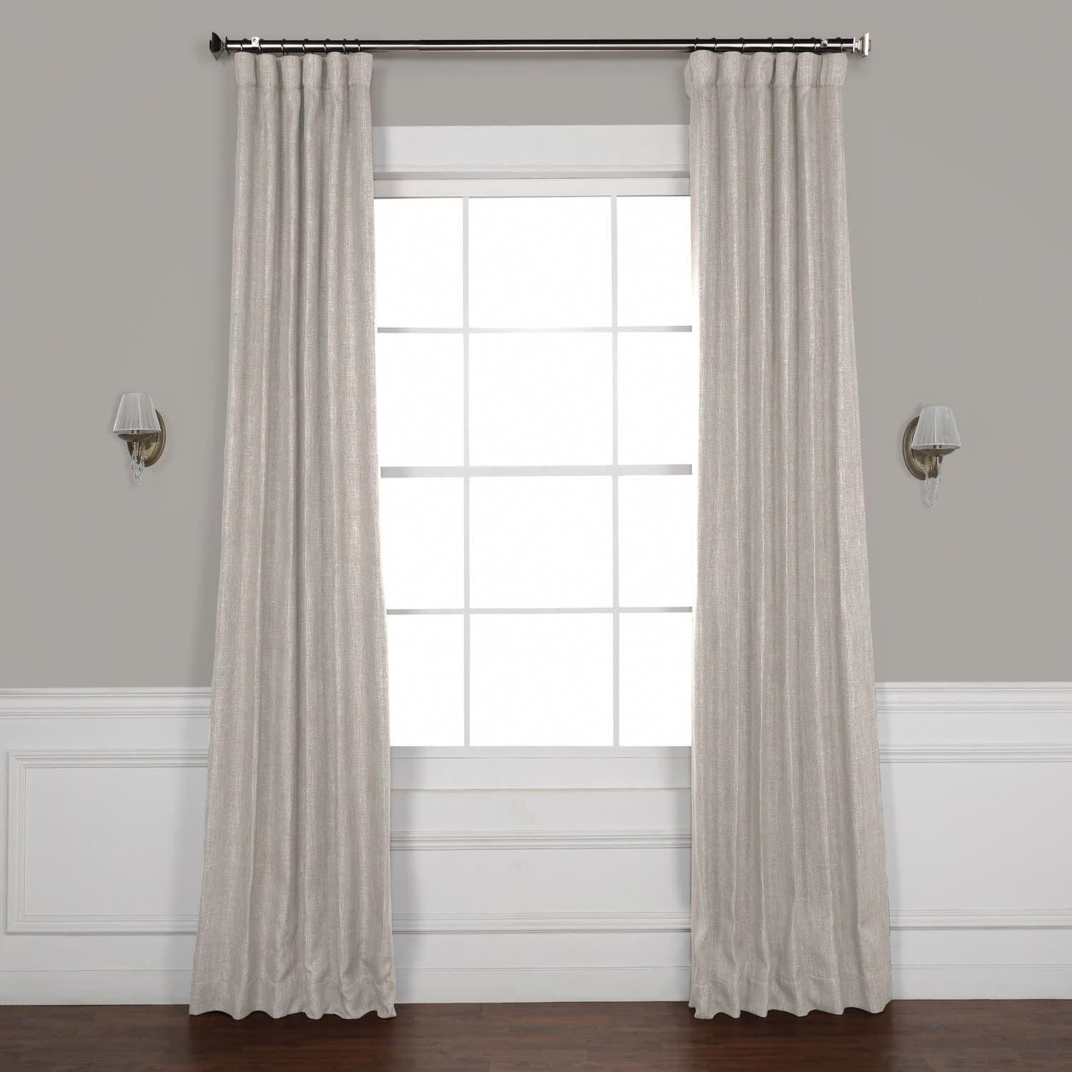 Exclusive Fabrics Faux Linen Blackout Curtain 50 X 108 108 Inches Clay Beige Curtains Panel Curtains Curtains Wall Decor Bedroom