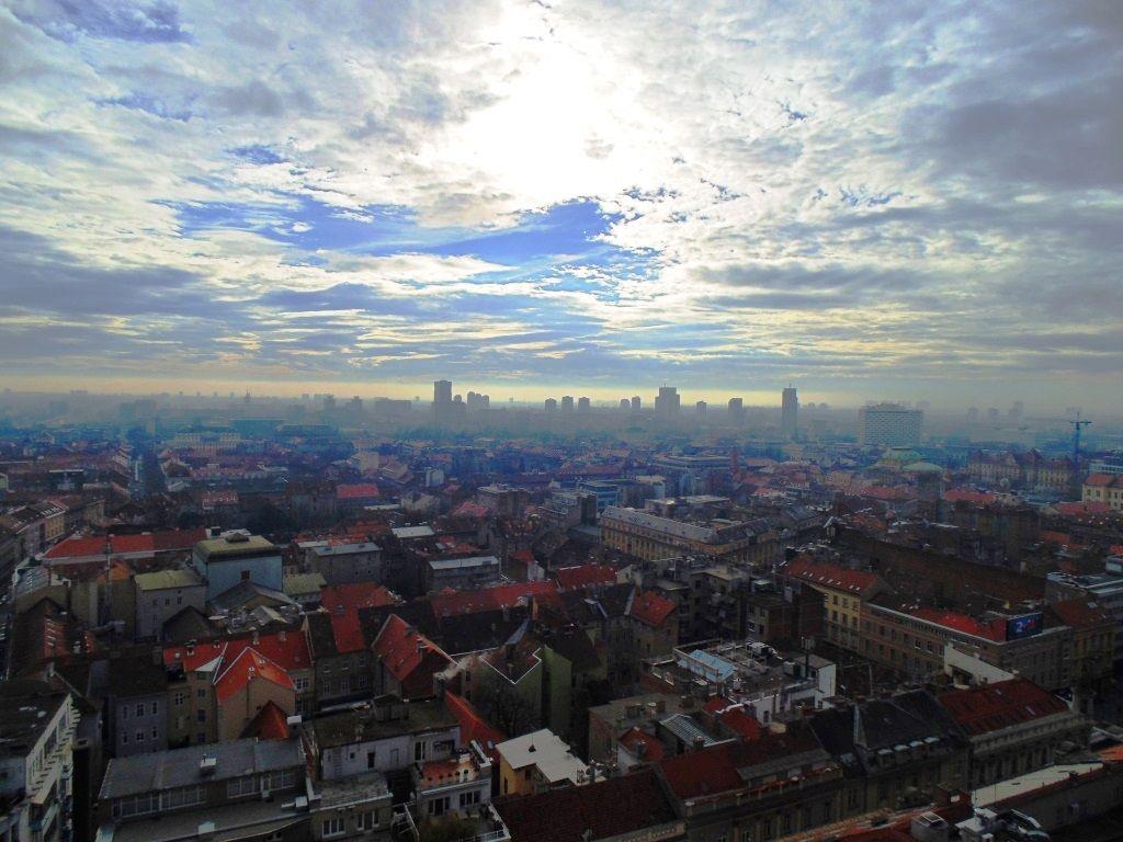 Zagreb From Viewpoint Zagreb Airplane View Croatia