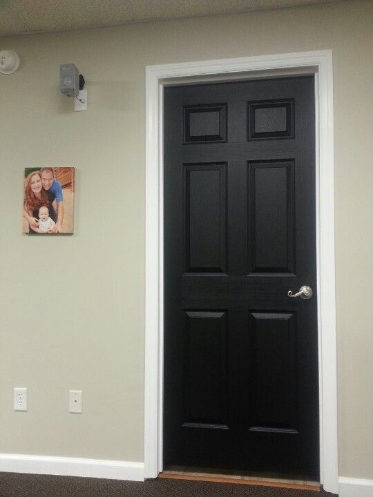 Black Interior Bat Doors With Brushed Nickel Hardware