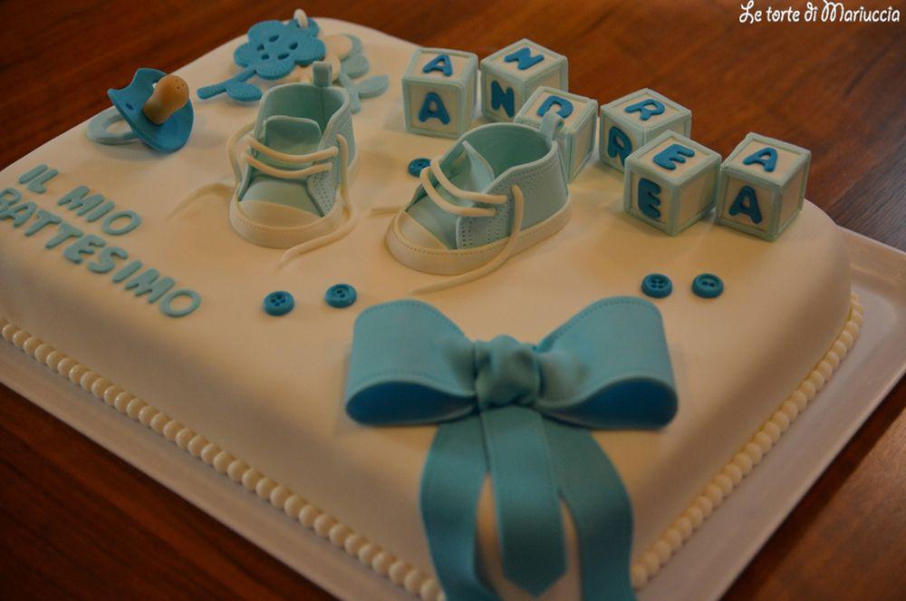 foto de Torta per il battesimo di un bimbo Battesimo Pinterest