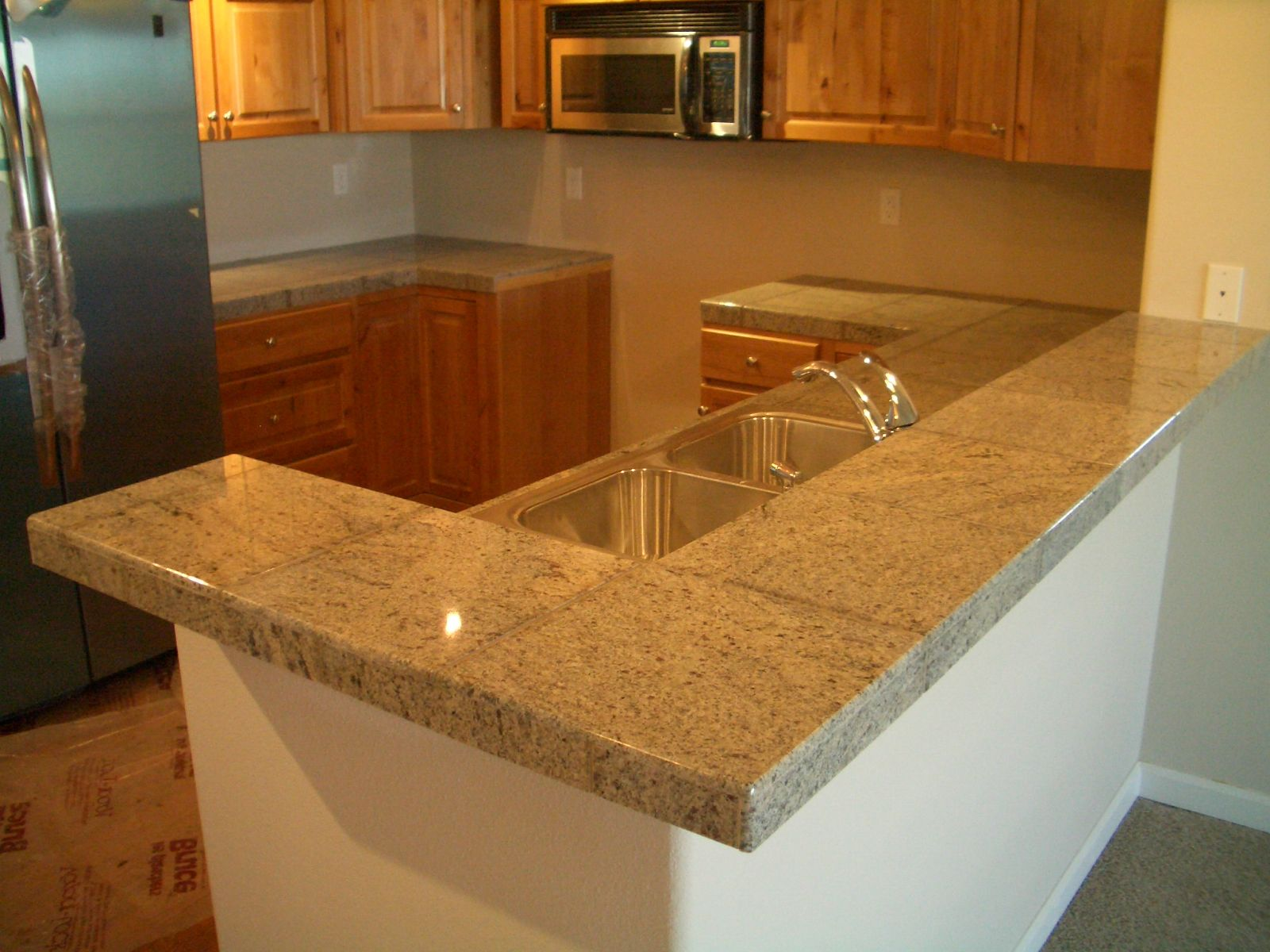 Granite Tile Bar And Kitchen Countertop