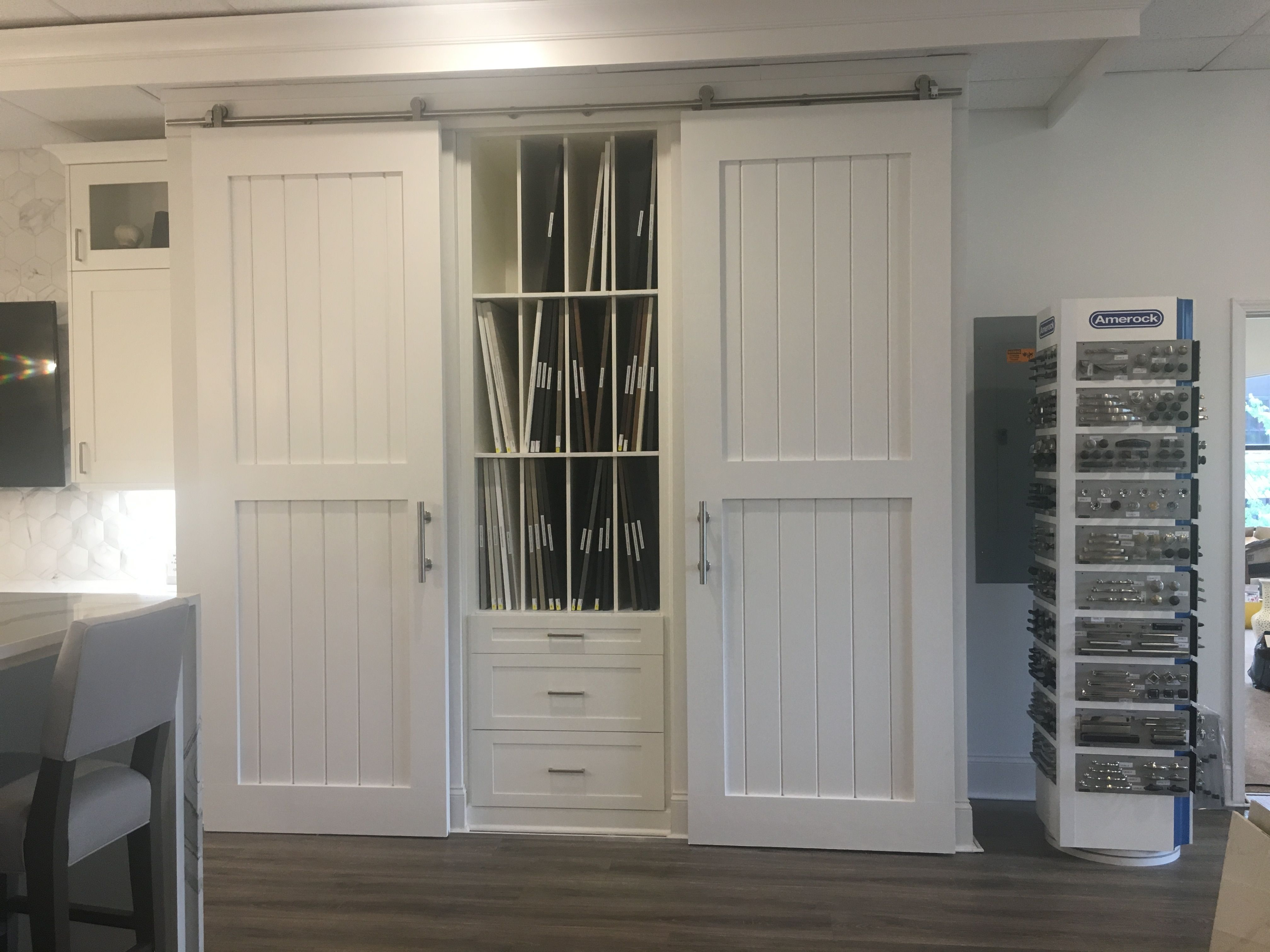 Sliding Doors Conceal Other Bc Cabinet Samples When Not In