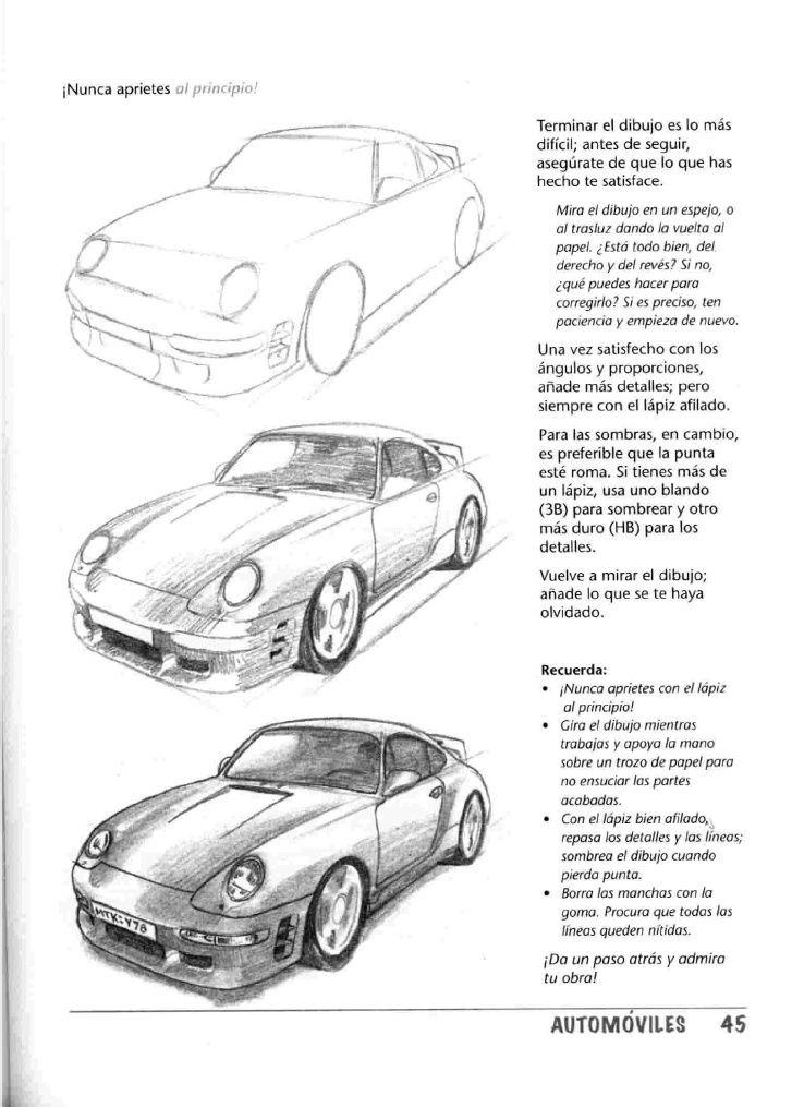 Como Dibujar Autos Paso A Paso Car Drawings Automotive Illustration Car Art