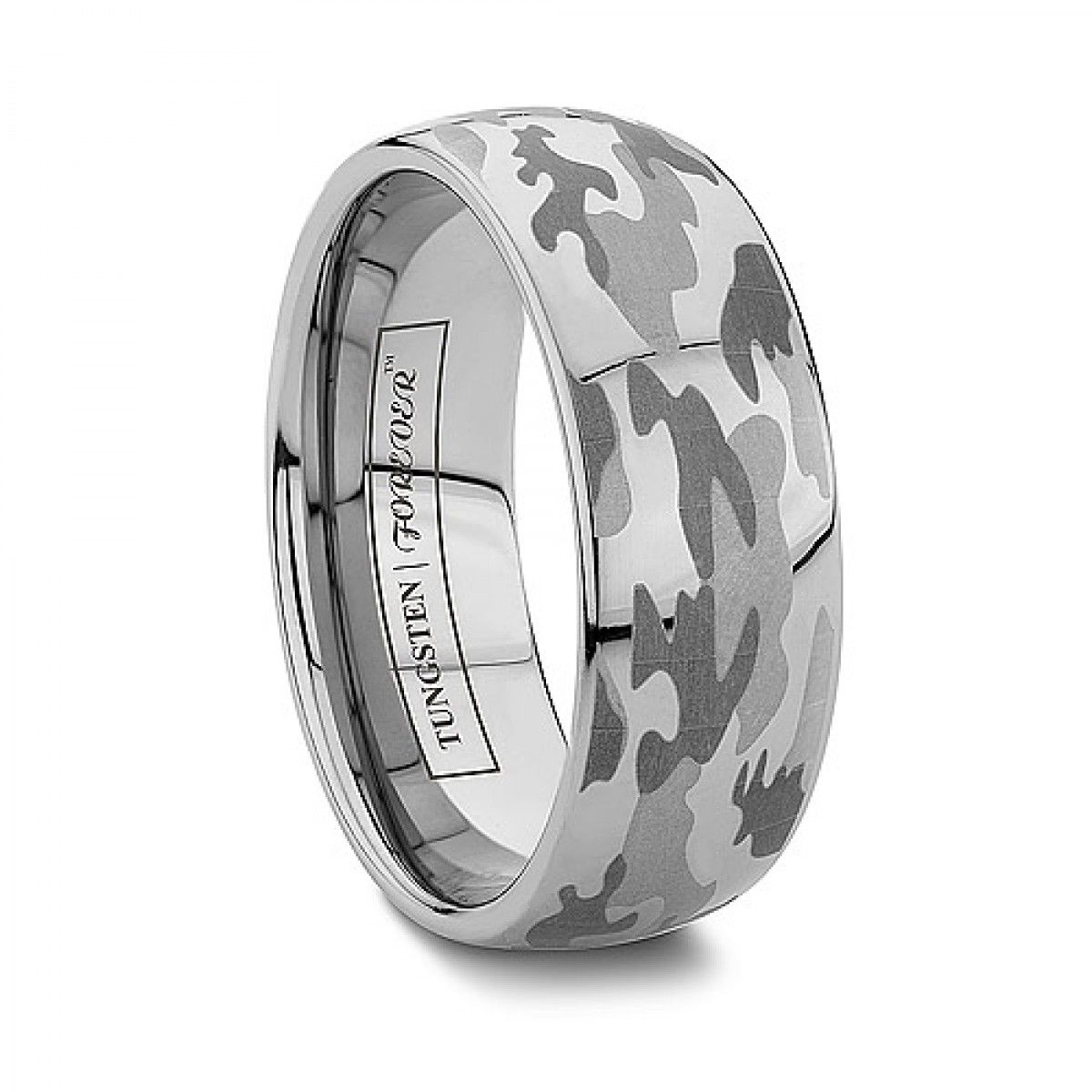 Or Camo Wedding Bands Tungsten Rings Engraved Military Camouflage