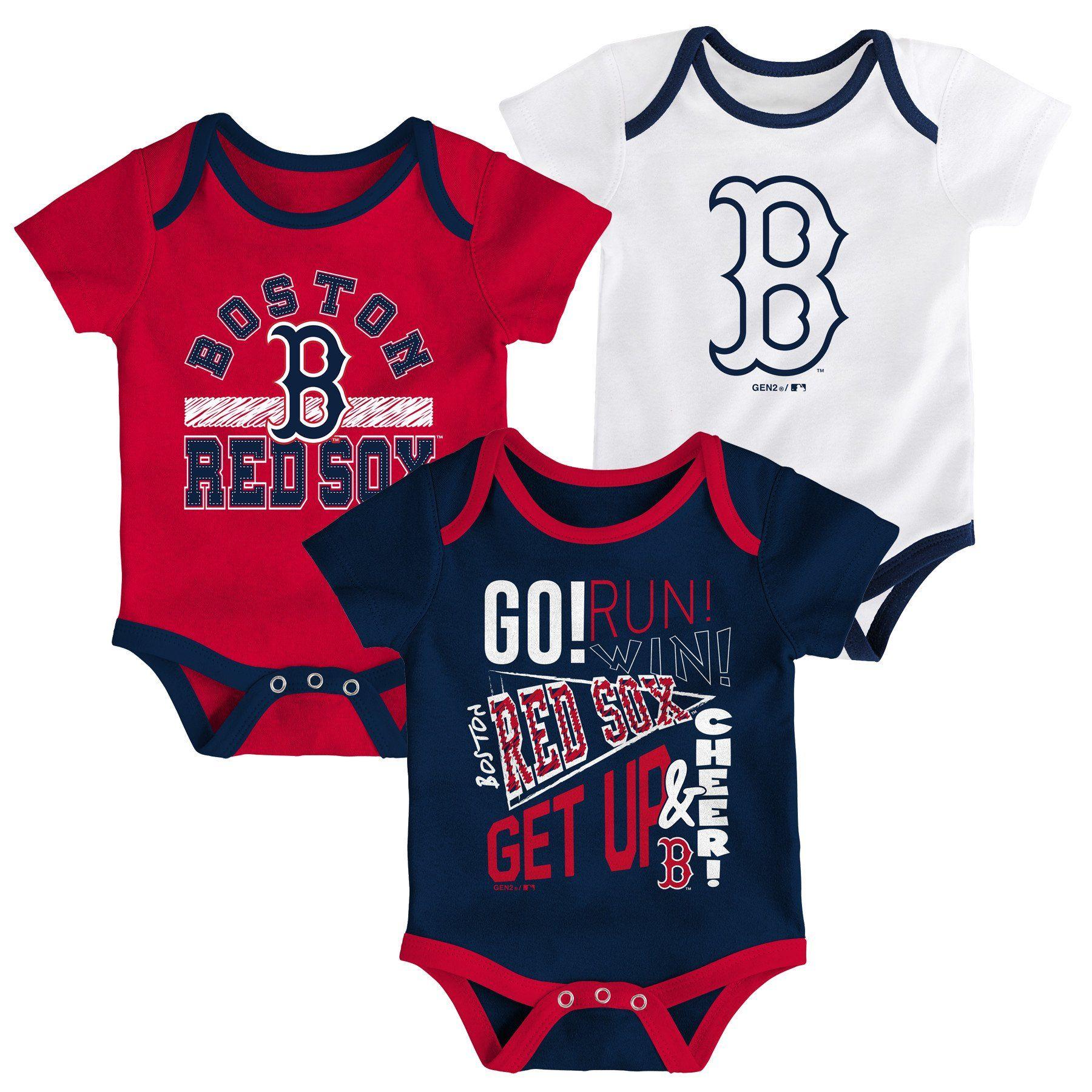 Outerstuff MLB Newborn Infants Play Ball 3 Piece Creeper Bodysuit Set