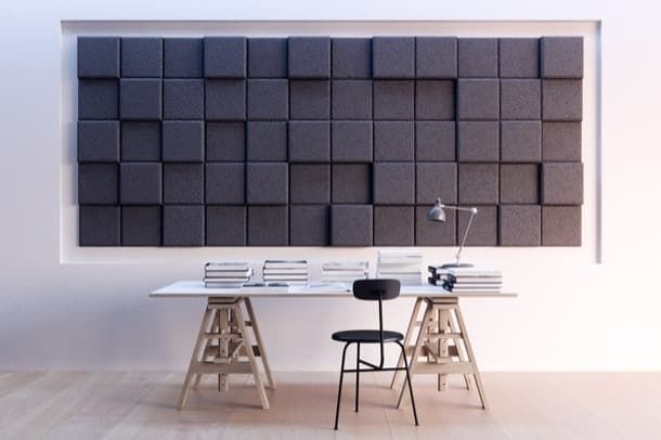 BAUX 3D Pixel paneles acústicos para paredes y techos La firma