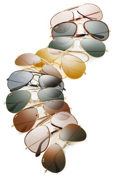 21e5a919335a07 Des  Aviators à l infini pour les fans de la marque  Rayban.  lunettes   sunglasses