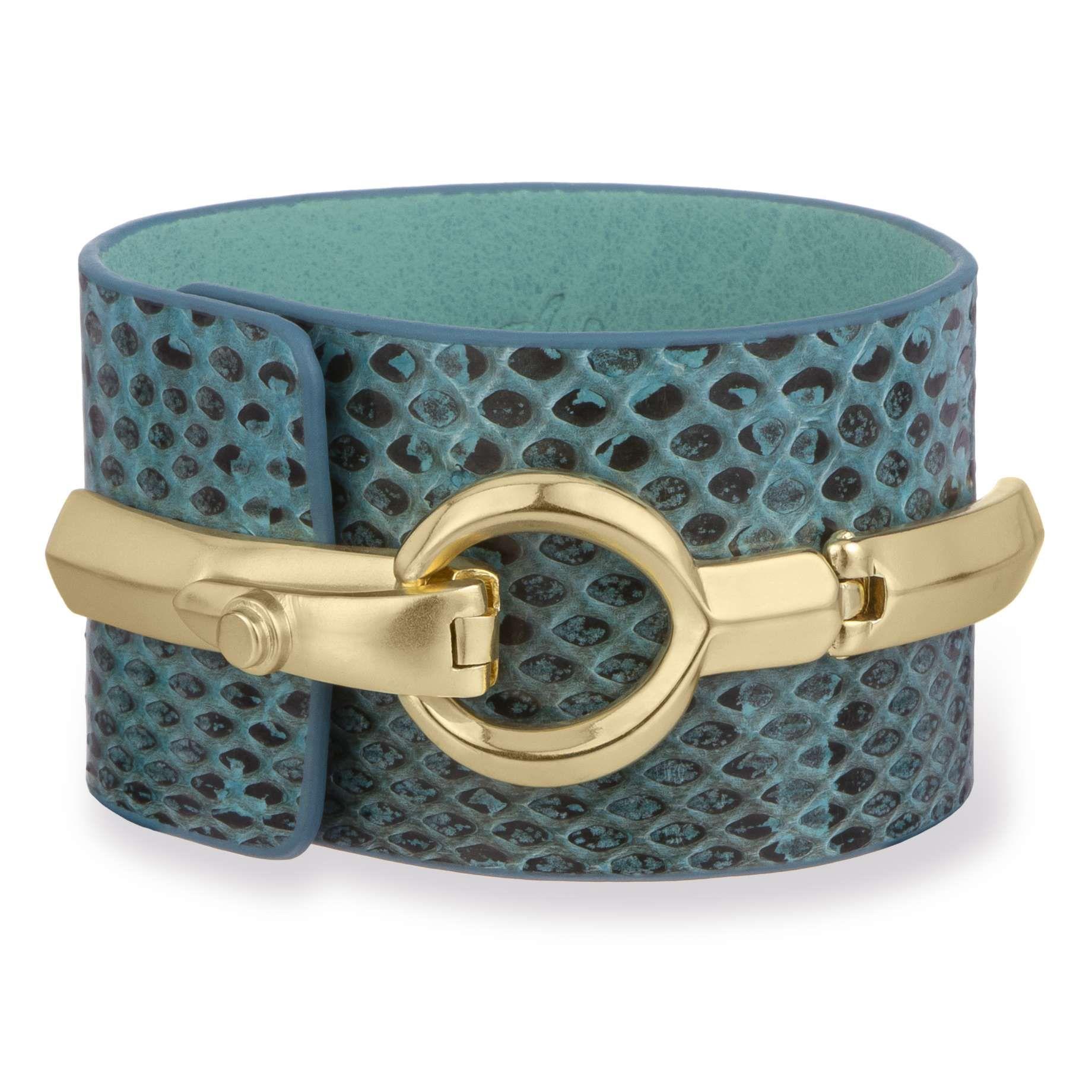 Accessories Sam Edelman Snake Interlock Bracelet Turquoise SamEdelman.com 65