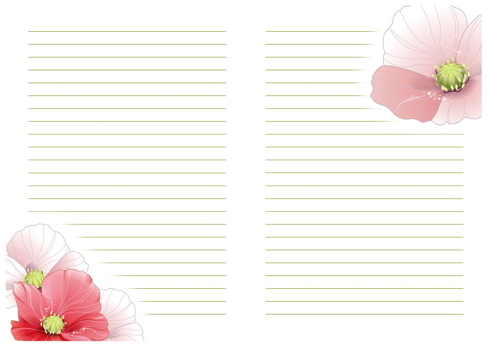 Листы шаблоны для открыток