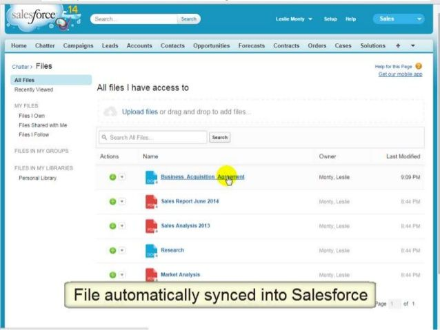 Quick Demo On How You Can Sync Box With Salesforce Evernote Basecamp Mortgage Brokers