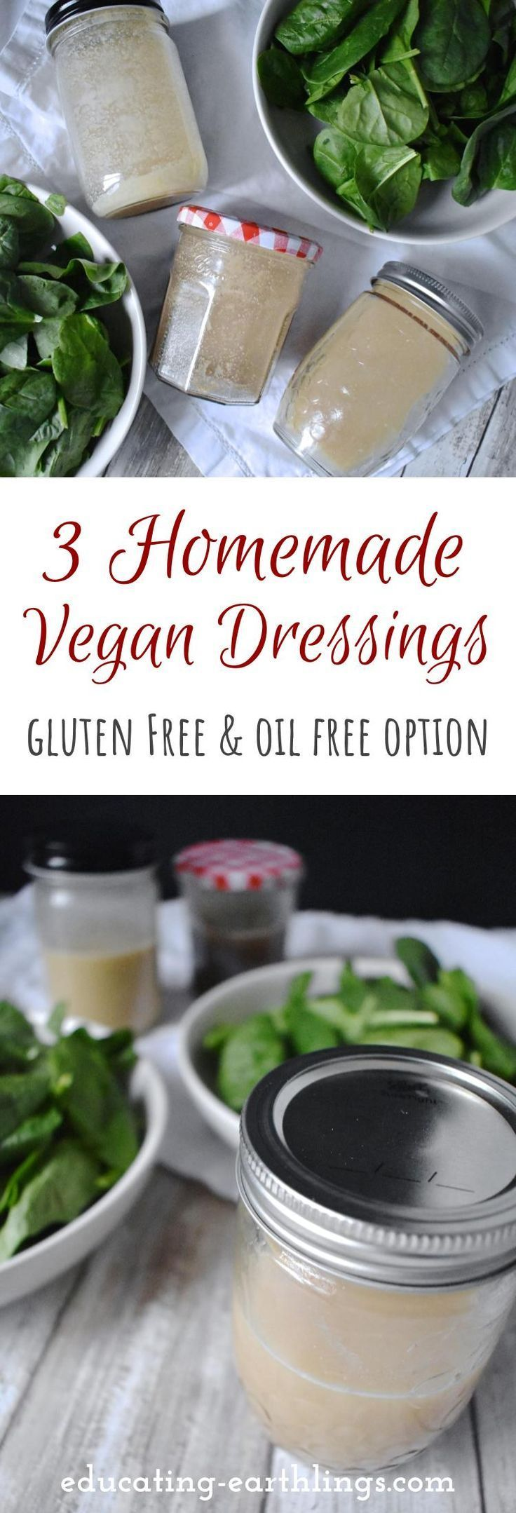 3 Simple Homemade Vegan Salad Dressings Food recipes