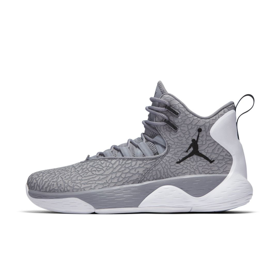 82ba8b3f4250 Jordan Super.Fly MVP L Men s Basketball Shoe Size 11.5 (Cement Grey ...