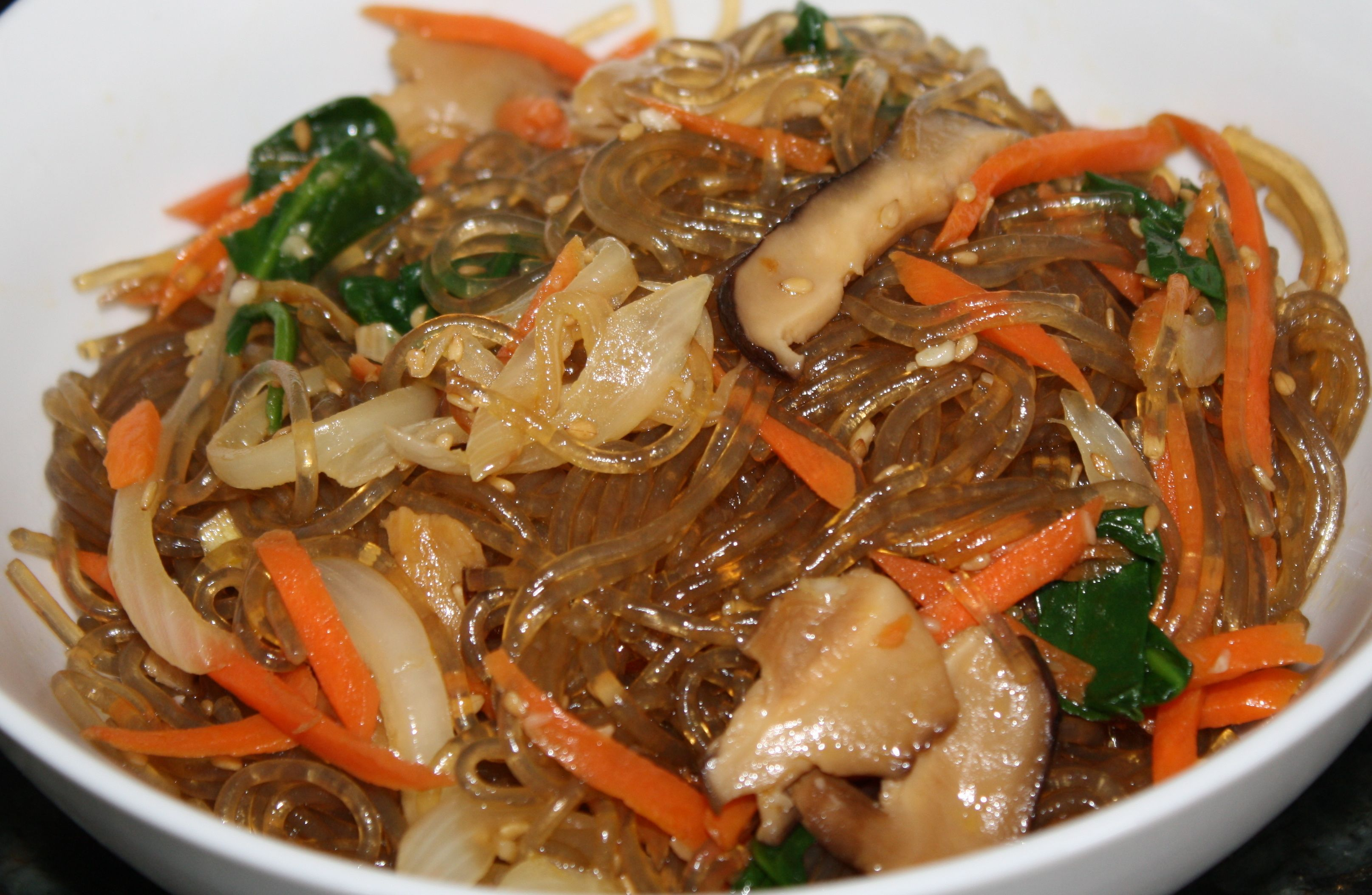 Vegan Japchae (Korean Sweet Potato Noodles) Recipe ...