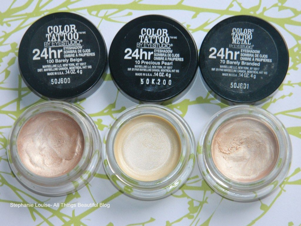 New Maybelline Color Tattoo In Precious Pearl Swatches Review Comparison Maybelline Color Tattoo Maybelline Eye Studio Maybelline
