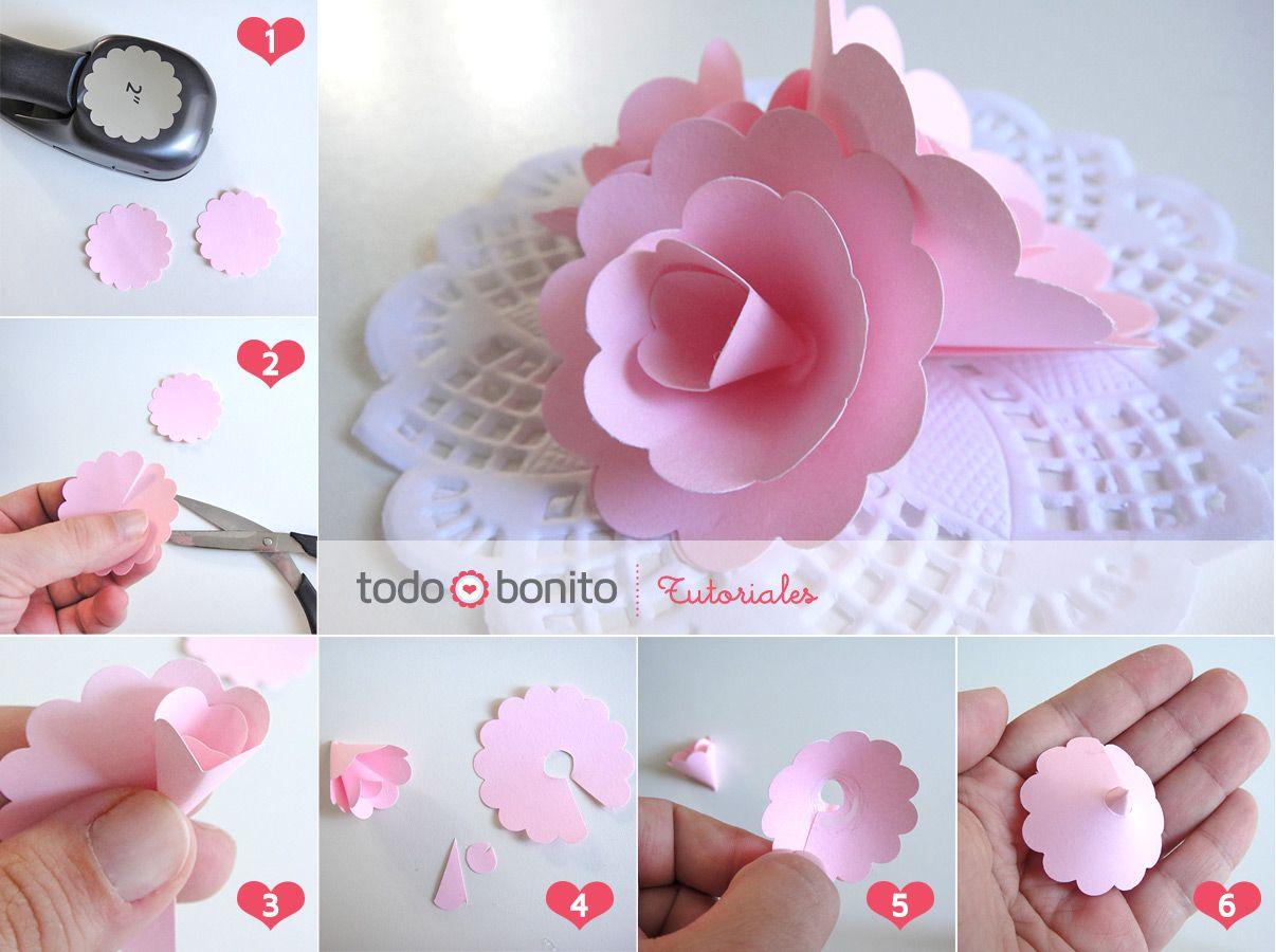 Rosas De Papel Paso A Paso Flower Making Paper Flowers Flower