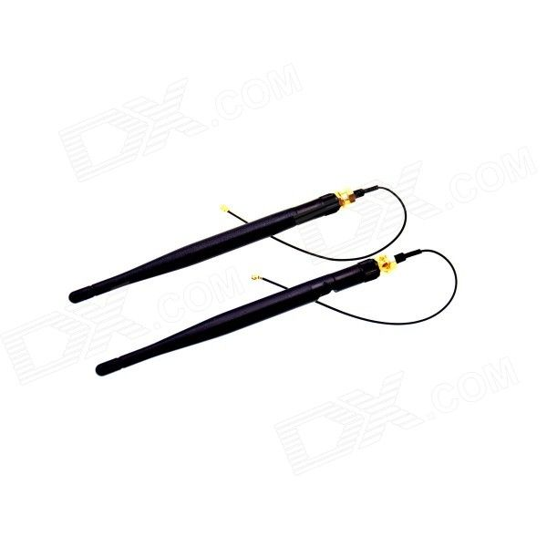 DIY Omnidirectional 3dBi BPI-R1 Antenna - Black + Golden (2pcs). Features: - 2.4 GHz Wi-Fi SMA connector; - Hig