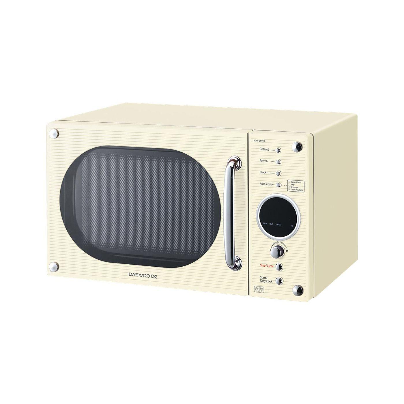 Daewoo KOR6N9RC 20L 800W Digital Microwave Oven - Cream | Microwaves
