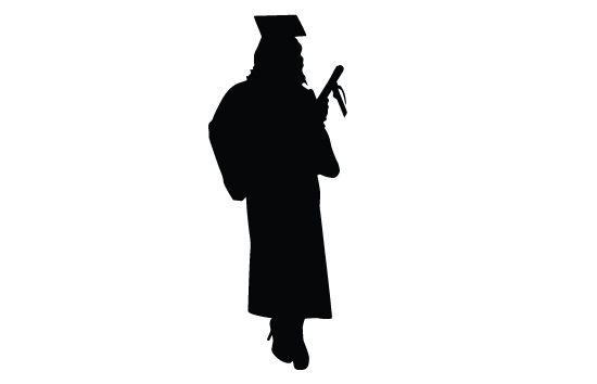 Graduation Silhouette Vector Graduation Silhouette Silhouette Vector Silhouette Clip Art