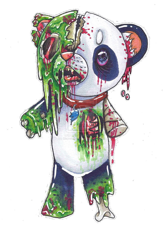 Zombie Panda!!! | Zombie drawings - photo#38