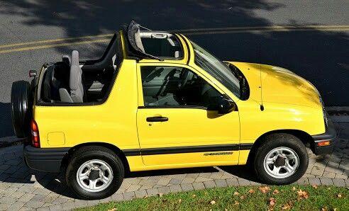 Yellow Convertible Chevy Tracker Suzuki Chevy Convertible