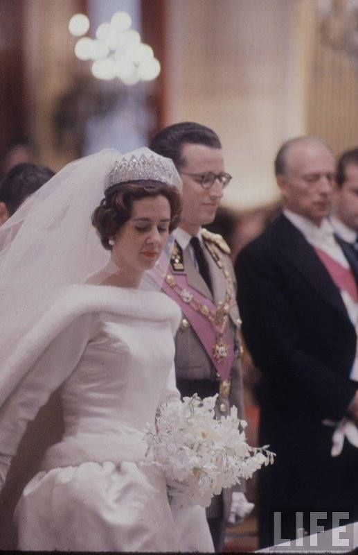 Queen Fabiola of Belgium in Balenciaga. 1960. | Tiaras | Pinterest ...