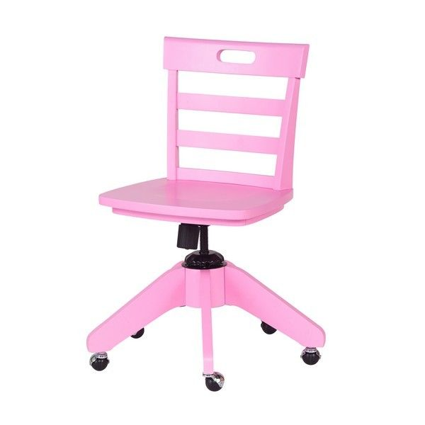 Swell Pink Rolling Desk Chair Sam Pink Desk Chair Kids Beatyapartments Chair Design Images Beatyapartmentscom