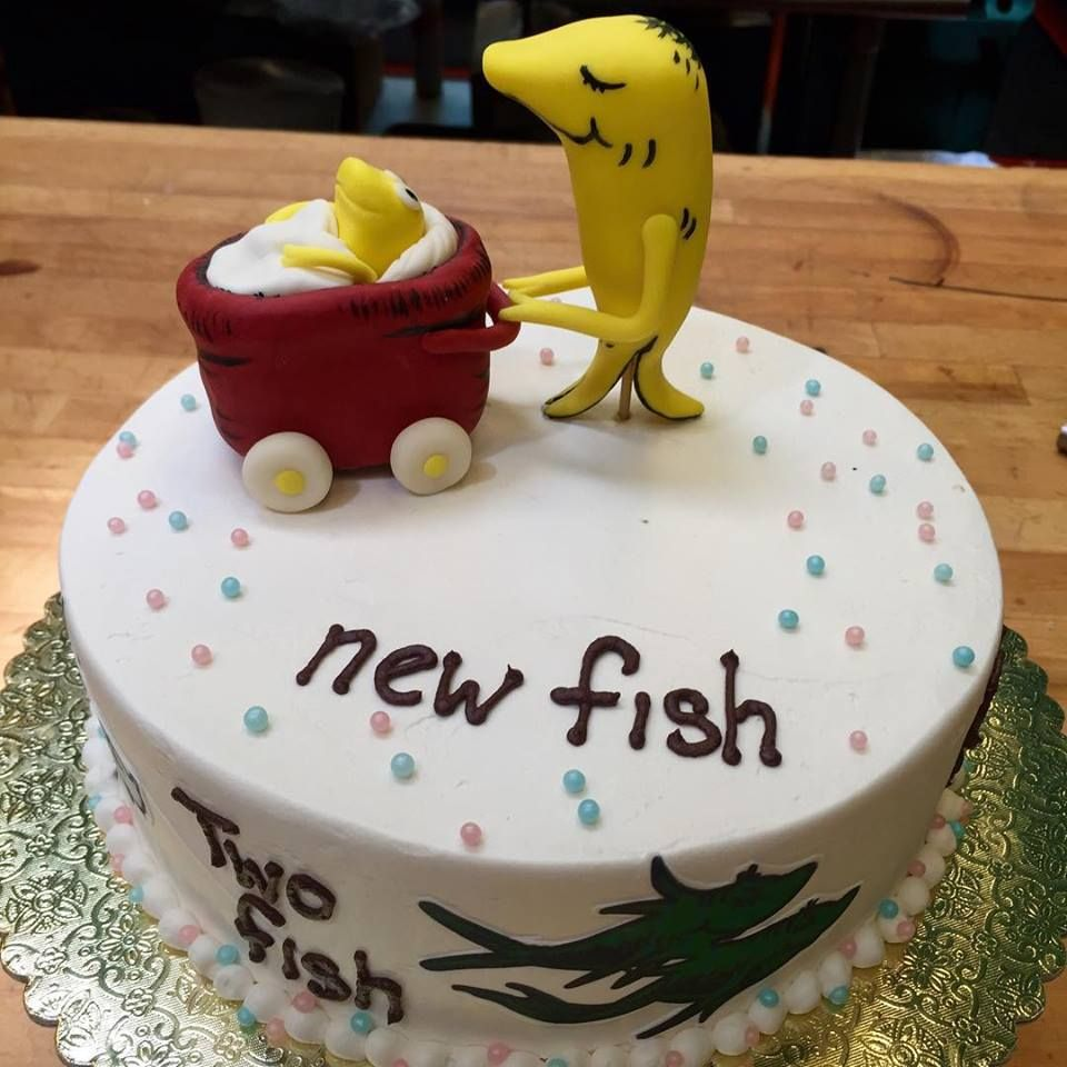 An adorable baby shower cake idea seusscake babyshower