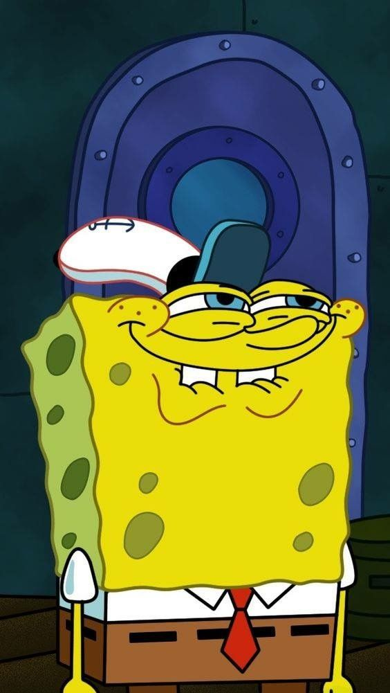 The face I make when I try not to laugh Spongebob
