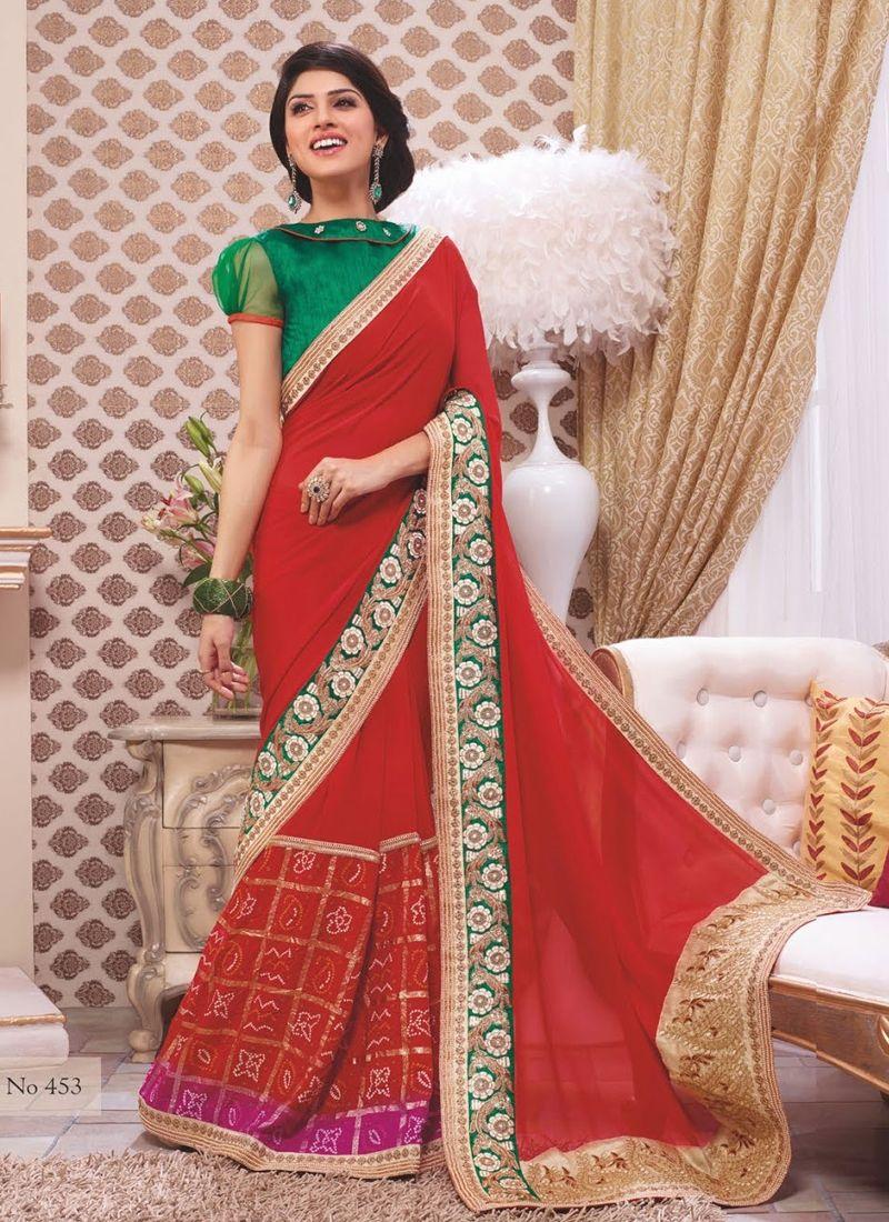 Dark Orange Party Wear Traditional Saree Shopping Visit Http Www Indiansareestore In Sarees Saree Designs Designer Sarees Collection Bridal Saree