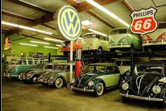 Vw bus and beetle garage old school vw 39 s pinterest for Garage volkswagen 92
