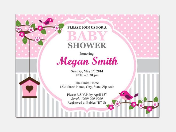 Surprise Baby Shower Invitations Templates Editable