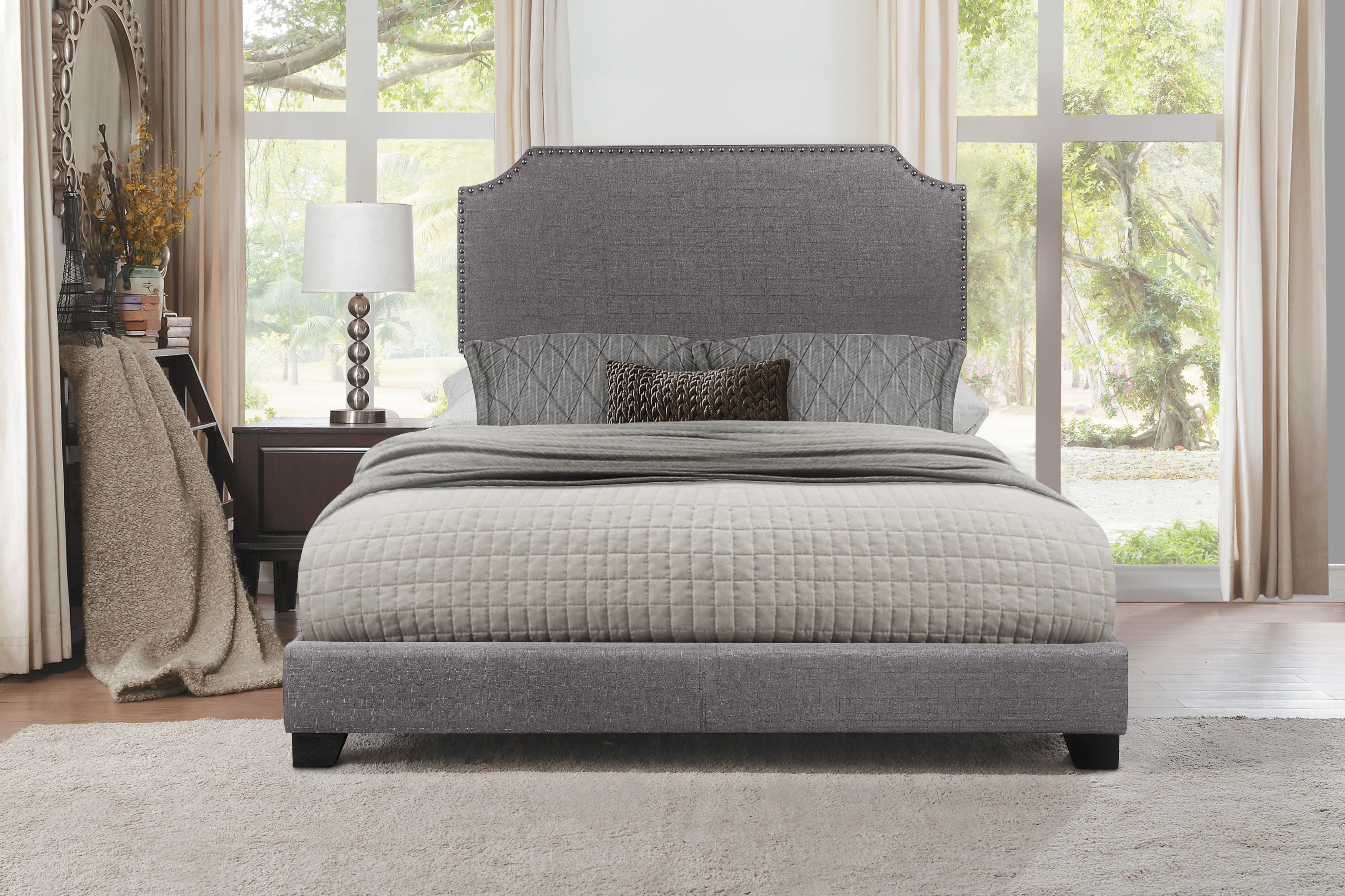 Carshalton Gray Queen Upholstered Bed King Upholstered Bed