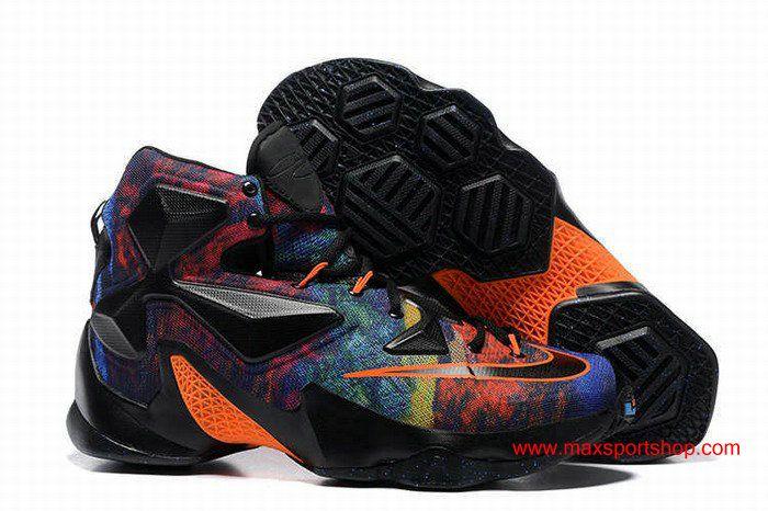 100% authentic a4cd8 52b0f Nike LeBron 13 Black Orange Colorful Basketball Shoes | Nike ...