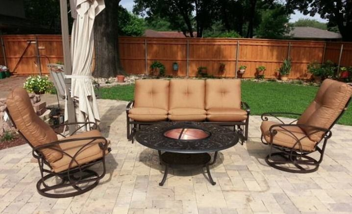 Winston S Patio Furniture Collection With Fire Pit Patio Outdoor Wicker Furniture Outdoor Rooms